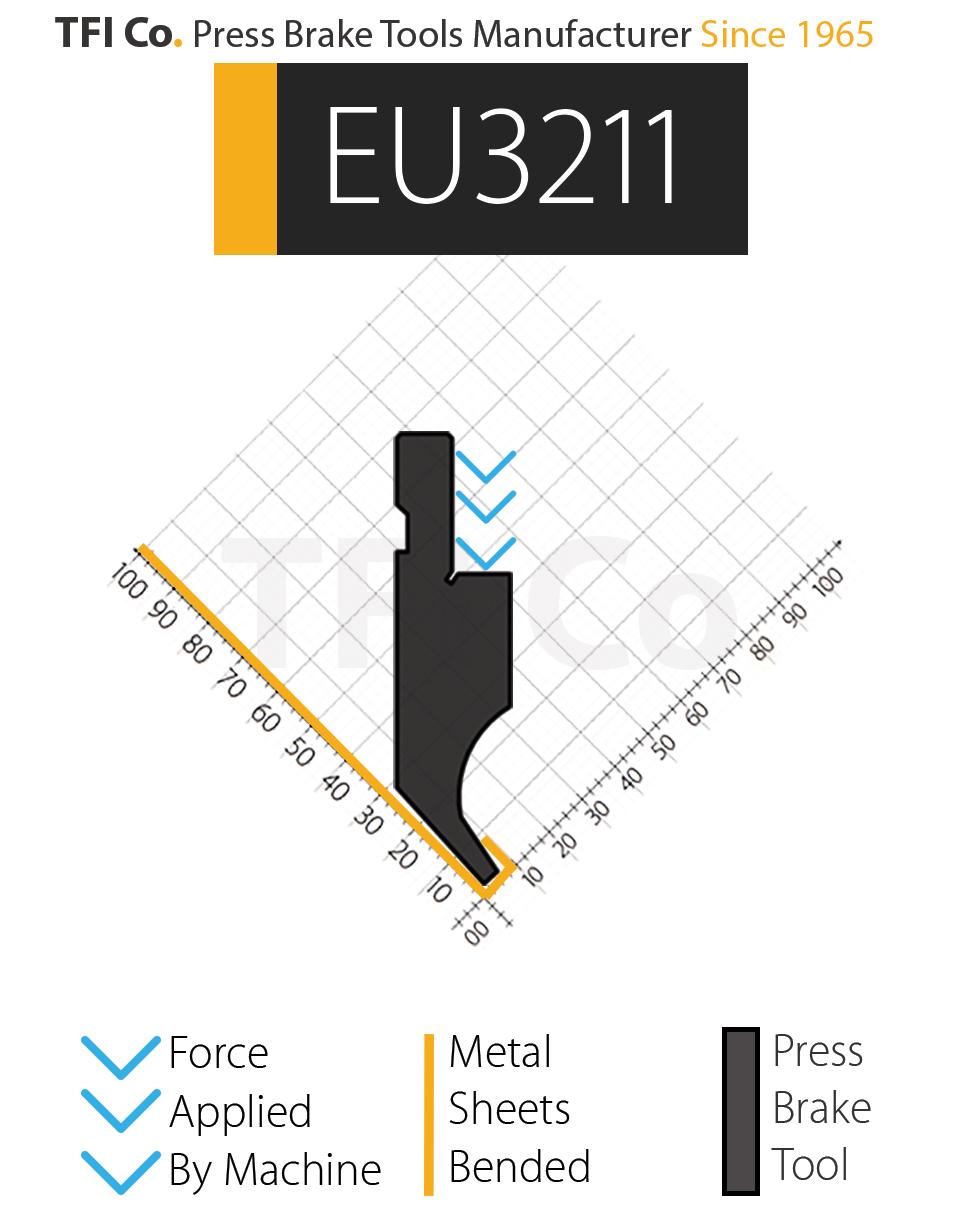 EU3211 , press brake tools, european design , amada , tfico, machine, press brake tools, tooling, press, brake, bending , upper, steel, tokoyo, california, uae, usa, industrial , manufacturer,